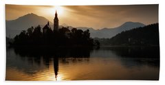 Sunrise At Lake Bled Beach Sheet