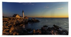 Sunrise At Portland Headlight Beach Towel