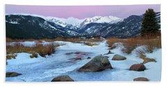 Sunrise At Rocky Mountain National Park Beach Sheet