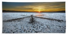 Sunrise At Soda Lake Beach Towel