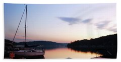 Beach Towel featuring the photograph Sunrise At The Lake by James Kirkikis