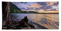 Beach Towel featuring the photograph Sunrise At Waterton Lakes by Dan Jurak