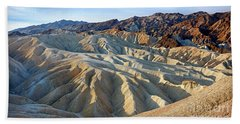 Beach Towel featuring the photograph Sunrise At Zabriskie Point by Martin Konopacki