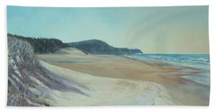 Beach Towel featuring the painting Sunrise Beach And Lions Head Noosa Heads Queensland by Chris Hobel
