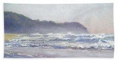 Beach Towel featuring the painting Sunrise Beach Sunshine Coast Queensland Australia by Chris Hobel