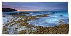 Sunrise Beneath The Storm Beach Towel