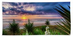 Sunrise Blooms Beach Towel