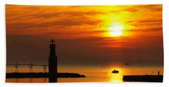 Sunrise Brushstrokes Beach Towel by Bill Pevlor