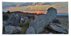 Sunrise Crests Above Redlands Mesa Beach Towel