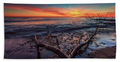 Sunrise Crossing  Beach Towel
