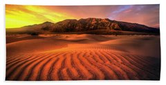 Sunrise-death Valley Beach Towel