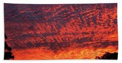 Sunrise Eruption Beach Sheet by Mark Blauhoefer