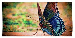 Beach Towel featuring the photograph Sunrise Flutter by Lesa Fine