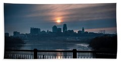 Sunrise From Kaw Point Beach Towel