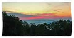 Beach Towel featuring the photograph Sunrise From Maggie Valley August 16 2015 by D K Wall
