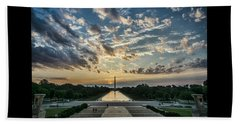 Sunrise From The Steps Of The Lincoln Memorial In Washington, Dc  Beach Towel