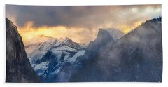 Sunrise Half Dome Beach Towel