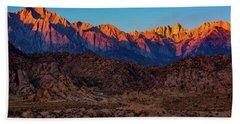 Sunrise Illuminating The Sierra Beach Sheet