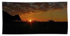 Sunrise In Botswana Beach Towel