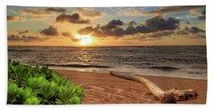 Sunrise In Kapaa Beach Towel