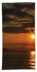 Sunrise In Portland Beach Towel by Baggieoldboy