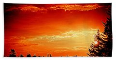 Sunrise In Southport Maine Beach Towel