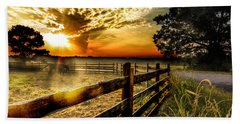Sunrise In Summer Beach Towel