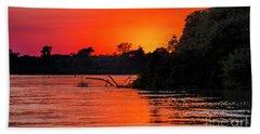 Sunrise In The Pantal Beach Towel