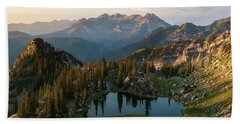 Sunrise In The Wasatch Beach Towel