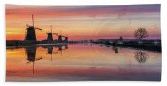 Sunrise Kinderdijk Beach Towel