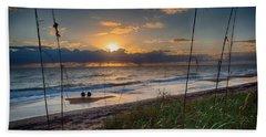 Sunrise Love Beach Towel