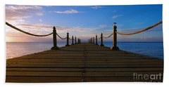 Sunrise Morning Bliss Pier 140a Beach Towel