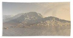 Sunrise Mountains Landscape Beach Towel