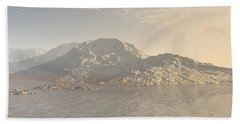 Sunrise Mountains Landscape Beach Sheet