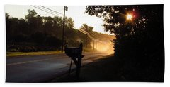 Sunrise On A Country Road Beach Towel