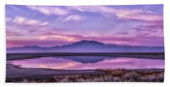Sunrise On Antelope Island Beach Sheet by Kristal Kraft