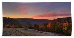 Beach Sheet featuring the photograph Sunrise On Jenne Farm - Vermont Autumn by Joann Vitali