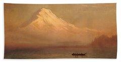 Sunrise On Mount Tacoma  Beach Towel