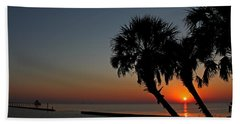 Beach Towel featuring the photograph Sunrise On Pleasure Island by Judy Vincent