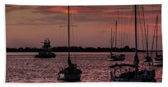 Sunrise On Sarasota Bay, Bradenton Beach Beach Towel