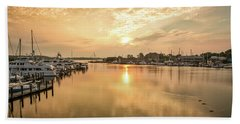 Sunrise On Spa Creek Beach Towel