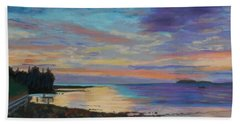 Sunrise On Tancook Island  Beach Sheet by Rae  Smith PAC