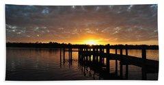 Sunrise On The Bayou Beach Towel by Michele Kaiser