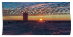 Sunrise On The Brocken, Harz Beach Sheet