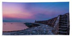 Sunrise On The Cobb, Lyme Regis, Dorset, Uk. Beach Towel