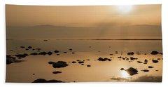 Sunrise On The Dead Sea Beach Towel