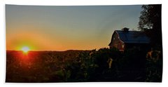 Beach Towel featuring the photograph Sunrise On The Farm by Chris Berry