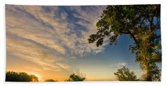 Beach Towel featuring the photograph Sunrise On The Knife River by Rikk Flohr