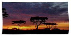 Sunrise On The Serengeti Beach Towel