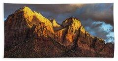 Sunrise On Zion National Park Beach Sheet